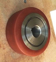 Çelik teker poliüretan kaplama